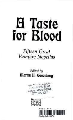 A Taste for Blood PDF