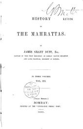 History of the Mahrattas: Volume 1