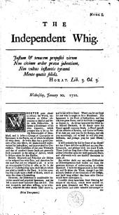 The Independent Whig [by J. Trenchard and T. Gordon].