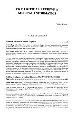 Critical Reviews in Medical Informatics PDF
