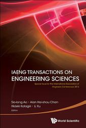 IAENG Transactions on Engineering Sciences: Special Issue for the International Association of Engineers Conferences 2014