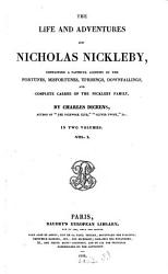 The Life And Adventures Of Nicholas Nickleby Book PDF