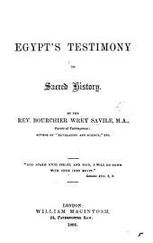 Egypt's Testimony to Sacred History