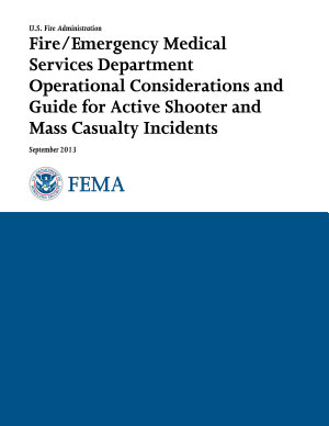 Fire/EMS Department Operational Considerations and Guide for Active Shooter and Mass Casualty Incidents