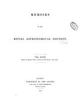 Memoirs of the Royal Astronomical Society: Volumes 27-28