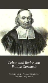Leben und lieder von Paulus Gerhardt