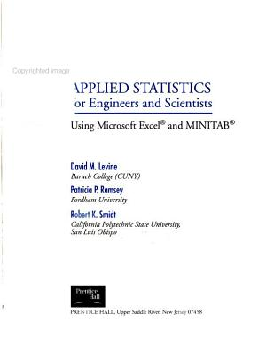 Applied Statistics for Engineers and Scientists PDF