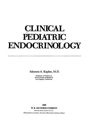 Clinical Pediatric Endocrinology