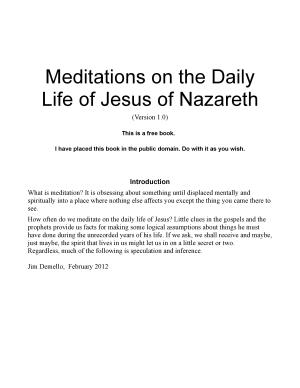 Meditations on the Daily Life of Jesus of Nazareth PDF