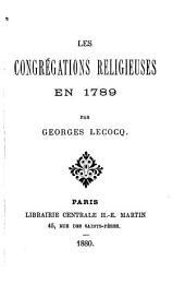 Les congrégations religieuses en 1789
