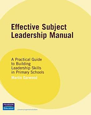 Effective Subject Leadership Manual PDF