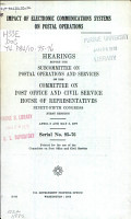 Impact of Electronic Communications Systems on Postal Operations PDF