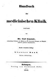 Die specielle Pathologie und Therapie: vom klinischen Standpunkte aus bearbeitet, Band 4,Ausgabe 3
