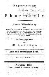 Repertorium für die Pharmacie: Autoren- und Sach-Register zu der ersten und zweiten Reihe des Buchner'schen Repertoriums für die Pharmacie. (Jahrgänge 1815-1848 oder hundert Bände)