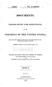 American State Papers: Documents, Legislative and Executive, of the Congress of the United States, Volume 2; Volume 7