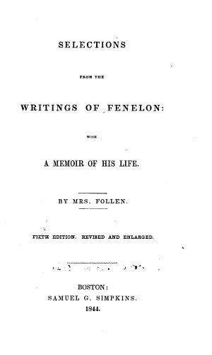 Selections from the Writings of Fenelon
