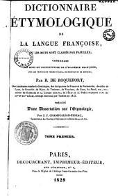 Dictionnaire étymologique de la langue françoise...