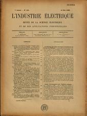 L'Industrie électrique: revue de la science électrique et de ses applications industrielles