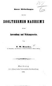 Kurze Mittheilungen über die Soolthermen Nauheim's, deren Anwendung und Wirkungsweise