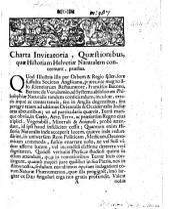 Charta invitatoria, quæstionibus, quæ historiam Helvetiæ naturalem concernunt, præfixa. (Quæstiones quæ concernunt historiam Helvetiæ naturalem.).
