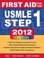 First Aid for the USMLE Step 1 2012 PDF