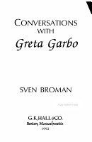 Conversations with Greta Garbo PDF