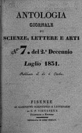 Antologia; giornale di scienze, lettere e arti: Volume 43