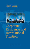 Corporate Residence and International Taxation