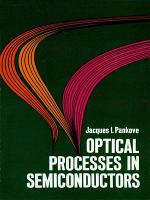 Optical Processes in Semiconductors PDF