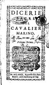 Dicerie sacre del caualier Marino. Volume primo