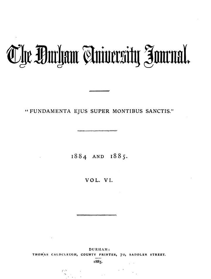 the durham university journal.
