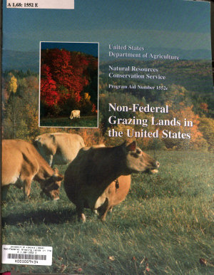 Non federal Grazing Lands in the United States PDF