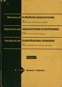 Directory of European Associations  National learned  scientific and technical societies    1979 PDF