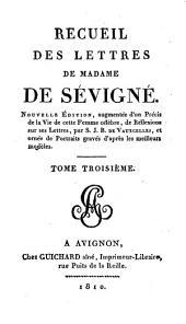 Recueil des lettres de Madame de Sévigné: Volume3