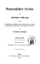 Biographisches Lexicon des Kaiserthums Österreich, enthaltend die Lebensskizzen der denkwürdigen Personen, welche 1750 bis 1850 im Kaiserstaate und in seinen Kronländern ... gelebt haben: Band 21
