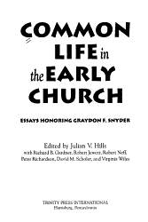 Common Life in the Early Church