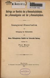 Beitrage zur kenntnis des p-homosalicylaldehyds, des p-homosali...