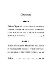 Index digest of the published decisions of the Comptroller General of the United States: Volume 946, Issue 51