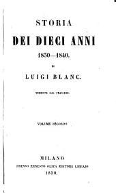 Storia dei dieci anni 1830-1840: Volume 2