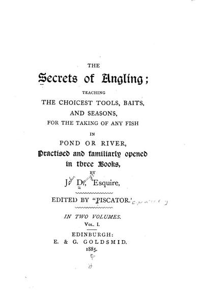 Download The Secrets of Angling Book
