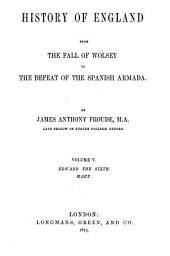 History of England from the Fall of Wolsey to the Defeat of the Spanish Armada: Volume 5