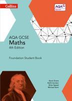 GCSE Maths AQA Foundation Student Book  Collins GCSE Maths  PDF