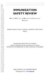 Immunization Safety Review: Hepatitis B Vaccine and Demyelinating Neurological Disorders