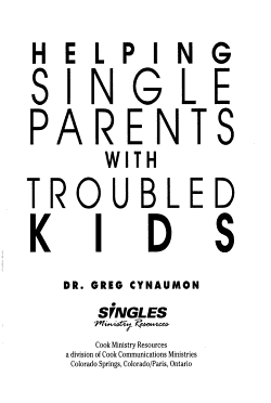 Helping Single Parents With Troubled Kids PDF