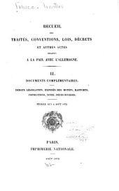 Recueil des traités, conventions, lois, décrets et autres actes relatifs à la paix avec l'Allemagne: Volume2