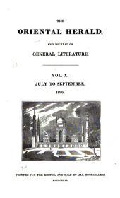 The Oriental Herald: Volume 10
