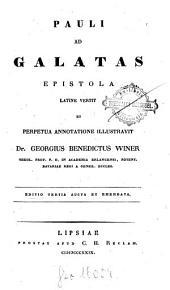 Pauli ad Galatas Epistola