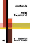 Kritik und Erkenntnisfortschritt PDF