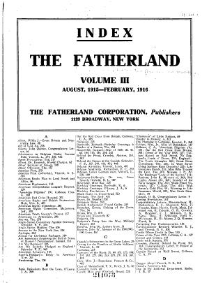 The Fatherland PDF