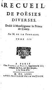 Recueil De Pöesies Chrestiennes Et Diverses: Volume3